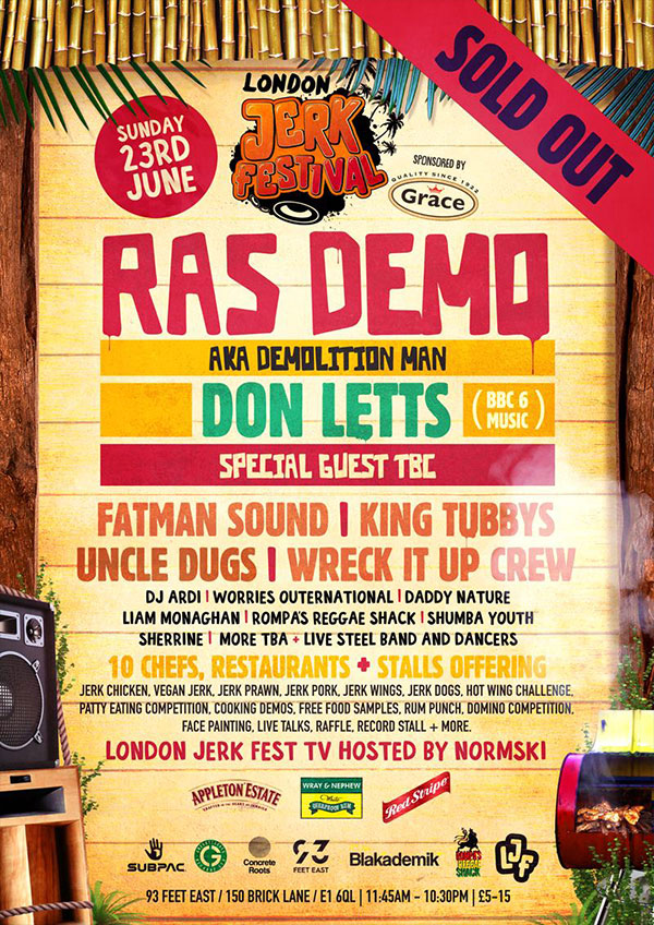 London Jerk Festival Flyer